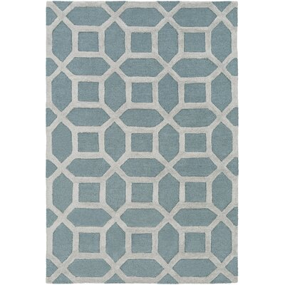 Wyble Hand-Tufted Blue/Gray Area Rug Rug Size: Round 8