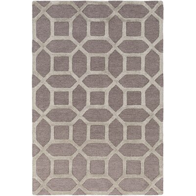 Wyble Hand-Tufted Gray Area Rug Rug Size: Round 6