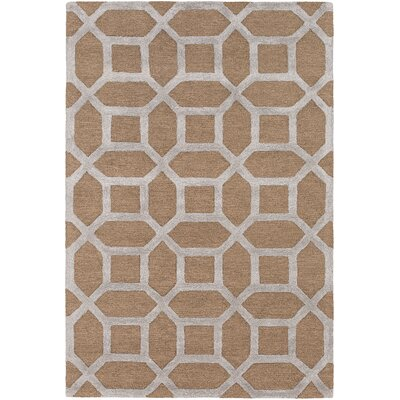 Arise Evie Hand-Tufted Tan Area Rug Rug Size: Round 6