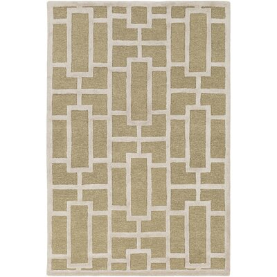 Perpetua Hand-Tufted Tan Area Rug Rug Size: Rectangle 4 x 6