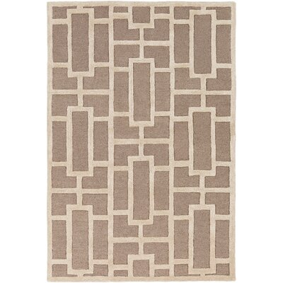 Perpetua Hand-Tufted Ivory Area Rug Rug Size: Rectangle 5 x 76