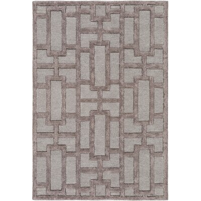 Perpetua Hand-Tufted Light Blue/Gray Area Rug Rug Size: Round 6