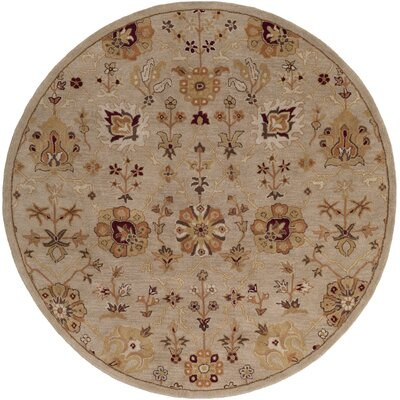 Phinney Hand-Tufted Beige Area Rug Rug Size: Round 8