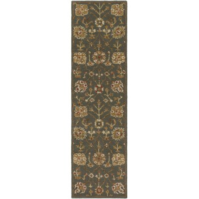 Middleton Allison Hand-Tufted Gray Area Rug Rug Size: Runner 23 x 14