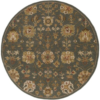 Phinney Hand-Tufted Gray Area Rug Rug Size: Round 36
