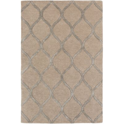 Massey Modern Hand-Tufted Brown Area Rug Rug Size: Round 6