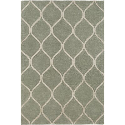 Massey Hand-Tufted Green Area Rug Rug Size: Round 6