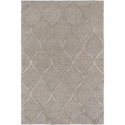 Massey Hand-Tufted Wool Taupe Area Rug Rug Size: Rectangle 4 x 6