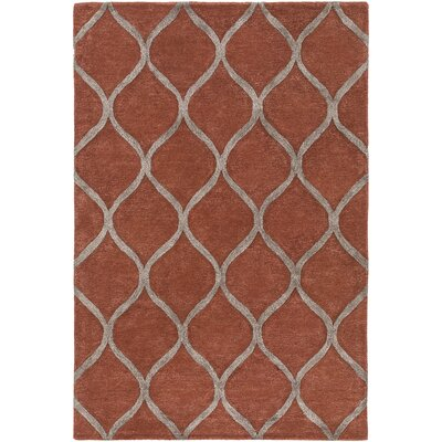 Massey Hand-Tufted Clay Area Rug Rug Size: Rectangle 76 x 96