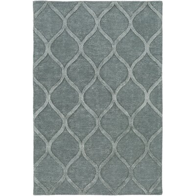 Massey Hand-Tufted Light Blue Area Rug Rug Size: Rectangle 76 x 96