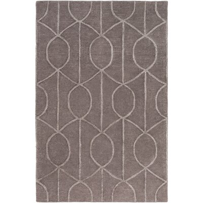 Abbey Hand-Tufted Mauve Area Rug Rug Size: Rectangle 2' x 3'