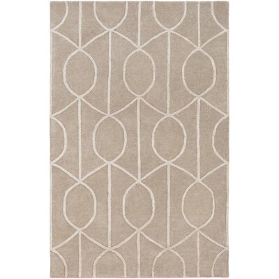Abbey Hand-Tufted Beige Area Rug Rug Size: Rectangle 5 x 76