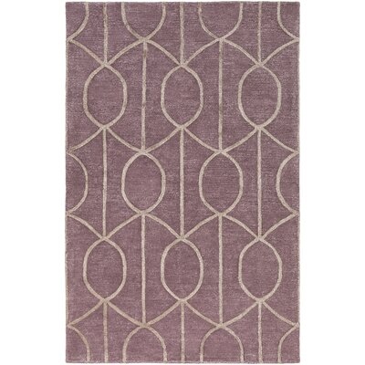 Abbey Hand-Tufted Purple Area Rug Rug Size: Rectangle 76 x 96