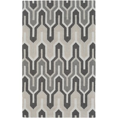 Zacharias Hand-Tufted Gray Area Rug Rug Size: Rectangle 5 x 8