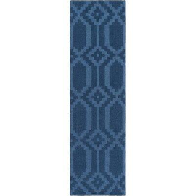 Brack Hand-Loomed Blue Area Rug Rug Size: Runner 23 x 10