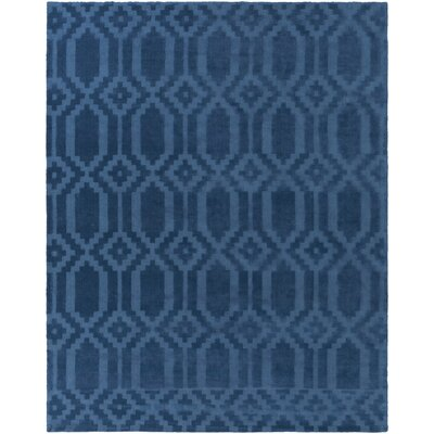 Brack Hand-Loomed Blue Area Rug Rug Size: Rectangle 2 x 3