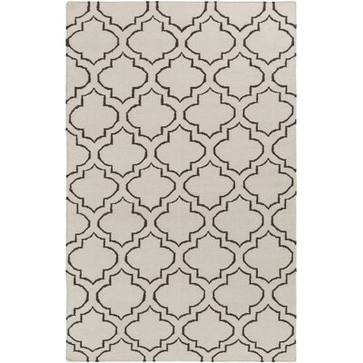 Aylesworth Ivory/Gray Area Rug Rug Size: Rectangle 4 x 6