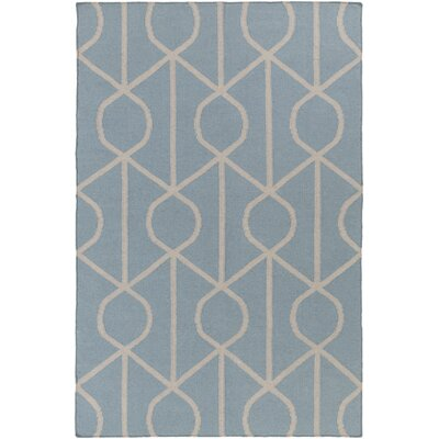 Murrill Light Blue Area Rug Rug Size: Rectangle 8 x 10