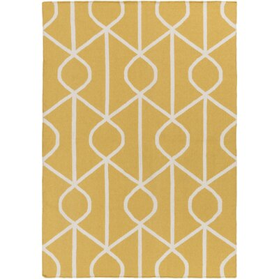 Murrill Yellow Area Rug Rug Size: Rectangle 8 x 10