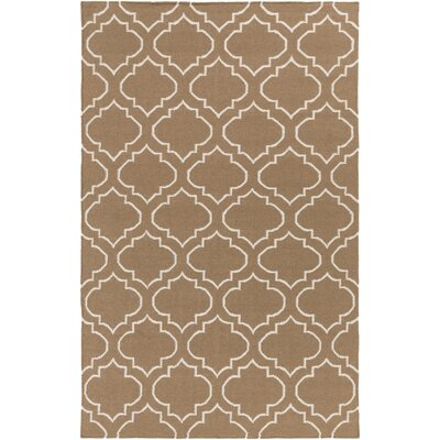 Aylesworth Hand-Woven Beige Area Rug Rug Size: Rectangle 5 x 8