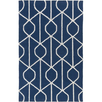Murrill Hand-Woven Blue Area Rug Rug Size: Rectangle 5 x 8