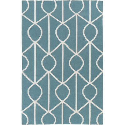 Murrill Blue Area Rug Rug Size: Rectangle 9 x 12