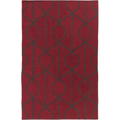 Murrill Red Area Rug Rug Size: Rectangle 8 x 10