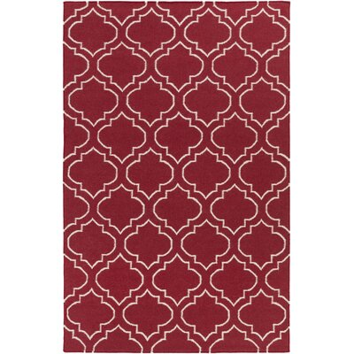 Aylesworth Red Area Rug Rug Size: Rectangle 9 x 12