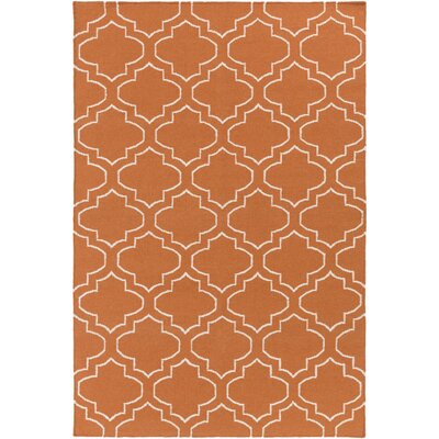 Aylesworth Orange Area Rug Rug Size: Rectangle 5 x 8