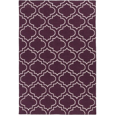 Aylesworth Purple Area Rug Rug Size: Rectangle 5 x 8