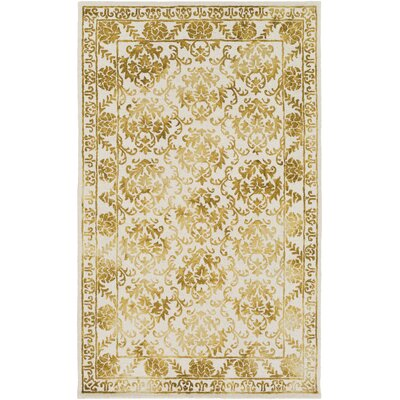 Kiernan Hand-Tufted Wool Mustard Area Rug Rug Size: Rectangle 4 x 6