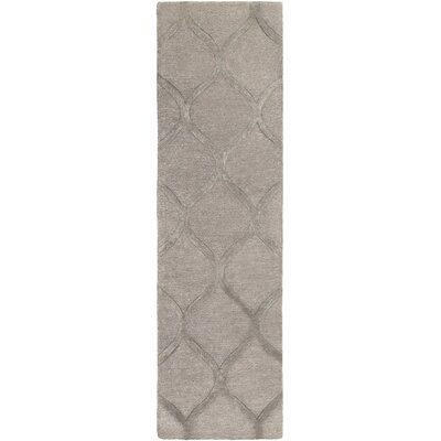 Massey Hand-Tufted Wool Taupe Area Rug Rug Size: Runner 23 x 10