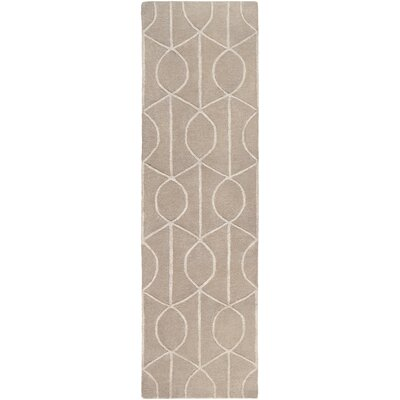 Abbey Hand-Tufted Beige Area Rug Rug Size: Runner 23 x 10
