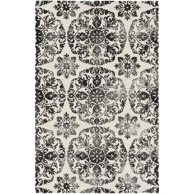 Dilworth Hand Tufted Black Area Rug Rug Size: Rectangle 4 x 6