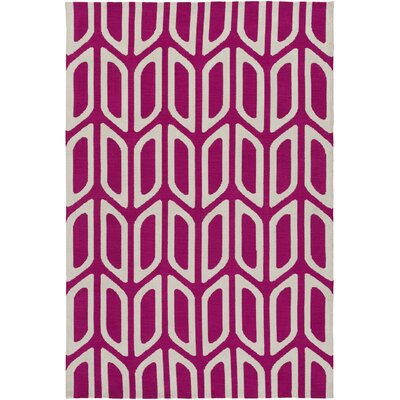 Blohm Hand Tufted Hot Pink Area Rug Rug Size: Rectangle 5 x 76