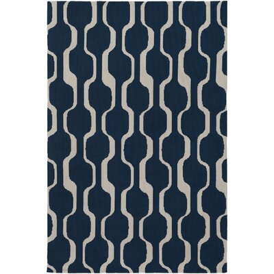 Zaire Hand Tufted Navy Blue Area Rug Rug Size: Rectangle 76 x 96