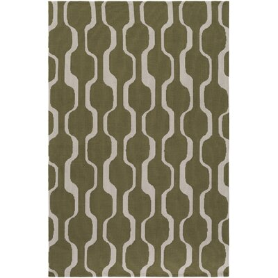 Zaire Olive Green Area Rug Rug Size: Rectangle 76 x 96