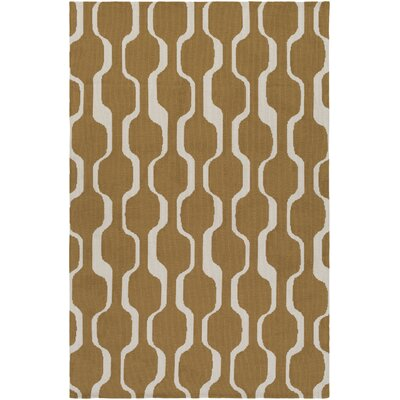 Joan Tilden Gold Area Rug Rug Size: 2 x 3