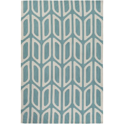 Blohm Hand Tufted Aqua Area Rug Rug Size: Rectangle 5 x 76