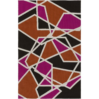 Joan Holloway Hot Pink/Orange Area Rug Rug Size: 76 x 96