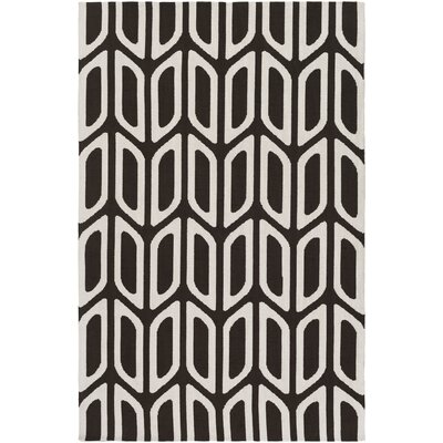 Blohm Black/White Area Rug Rug Size: Rectangle 76 x 96