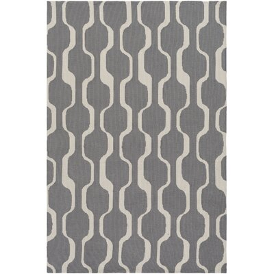 Zaire Hand Tufted Gray Area Rug Rug Size: Rectangle 76 x 96
