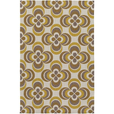 Joan Everston Gold/Yellow Area Rug Rug Size: 76 x 96