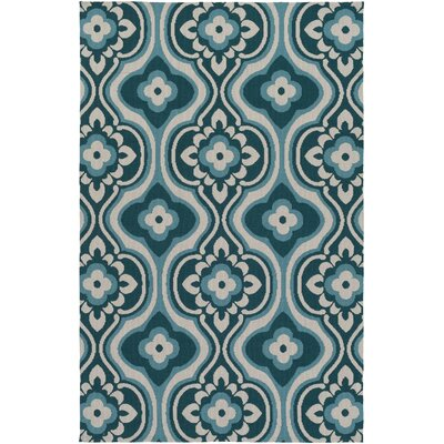 Mucci Teal Area Rug Rug Size: Rectangle 8 x 11