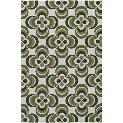 Mraz Olive Green/Moss Area Rug Rug Size: Rectangle 5 x 76