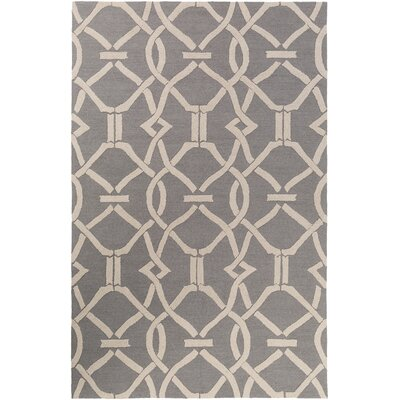 Dyess Hand-Crafted Gray Area Rug Rug Size: Rectangle 8 x 11