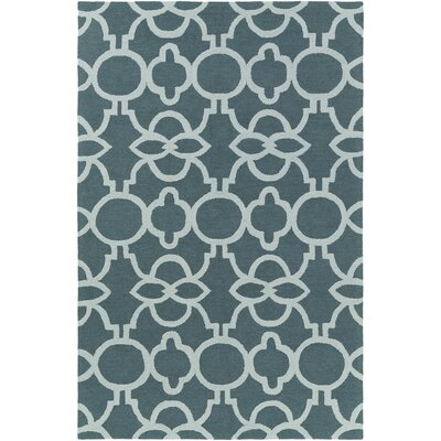 Sandi Hand-Crafted Teal/Mint Area Rug Rug Size: Rectangle 76 x 96