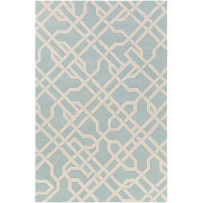 Daigle Hand-Crafted Blue Area Rug Rug Size: Rectangle 3 x 5