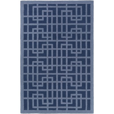 Marigold Lawson Hand-Crafted Navy Blue/Denim Blue Area Rug Rug Size: 3 x 5