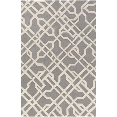 Daigle Hand-Crafted Gray Area Rug Rug Size: Rectangle 5 x 76